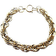 Vintage Multilink Charm Bracelet Signed Germany