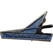 Vintage The Airways Club NY Foreign Business Club Pin Airplane Collectible