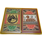 Vintage Hallmark Playing Cards Double Deck American Rustic Duck & Horse