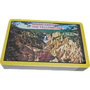 Sealed Vintage Playing Cards Grand Canyon Of The Yellowstone Plastic Coated - National Park Souvenir