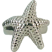 Designer Signed Sterling Silver Starfish Ring 925 Thailand Makers Mark size 7.5