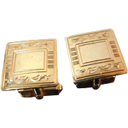 Vintage Signed Anson Gold Filled Cufflinks Engraveable! Wedding Or FormalWear
