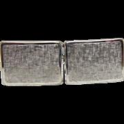 Mid Century Krementz Textured Rectangular CuffLinks - Rhodium or Gold Plated