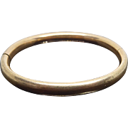 Antique Gold Shell Child Bangle Bracelet Signed DB & Co