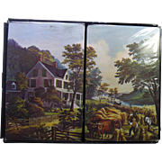 Vintage Factory Sealed Double Deck Fluid Scene Playing Cards 1st Wisconsin Bank