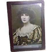 Vintage Print of Lorna Doone of William Wonter Painting from 1892 - Glass Cover