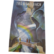 Vintage 1930s Travel Brochure Trummelbach Falls Scheidegg Hotels Switzerland
