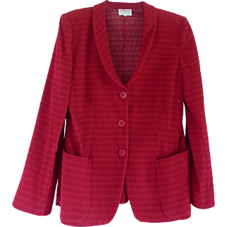 Beautiful Vintage RedArmani Collezioni Blazer Jacket - Size 8