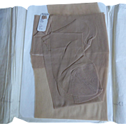 NOS Large Size Christian Dior Ultrason Nylon Stockings Size 11L Ultra Dior Creme Crepe - Unworn With Original Tag & Paper