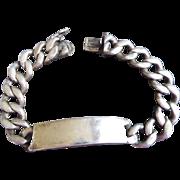 Vintage Sterling Silver ID Bracelet - Biker Bracelet Napier Sterling Circa 1940s