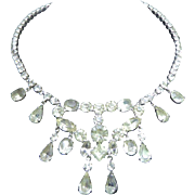 Attention Getting Vintage Rhinestone Bib Necklace - Sparkle & Shine For Your Wedding or other Special Occasion