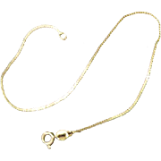 Delicate 14K Gold Chain Bracelet With S Links - Italian Gold Signed (STAR) 57 AR