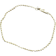 14K Gold Twist Link Bracelet - 1.8 Grams Wearable Investment!