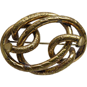 Fabulous Large Antique Victorian Edwardian Lovers Knot Brooch Circa Mid 1800s