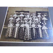 Antique Japonisme or Chinoiserie Photograph of Girls Dressed In Kimonos Holding Fans - by HE Cramer Chicago
