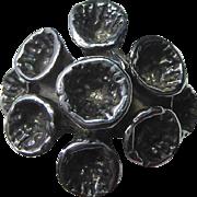 Sterling Silver Ring With Brutalist Tubular Flower Design