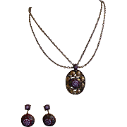 Vintage Juliana D&E for Celebrity - Moroccan Necklace and Earring Set