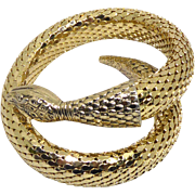 Beautiful Signed Whiting & Davis Iconic Mesh Snake Wraparound Bracelet