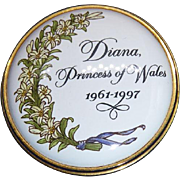 Very Clean Halcyon Days Enamel Box - Limited Edition Diana Princess Of Wales Tribute In Original Box