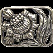Framed Vintage Sterling Silver Flower Brooch - Dimensional & Beautiful!