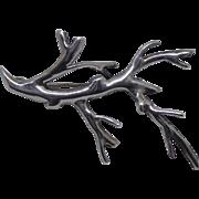 Denmark Sterling Silver Branch Brooch by Bernard Hertz - Beautiful & Unique!