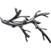 Denmark Sterling Silver Branch Brooch by Bernard Hertz - Beautiful & Unique!