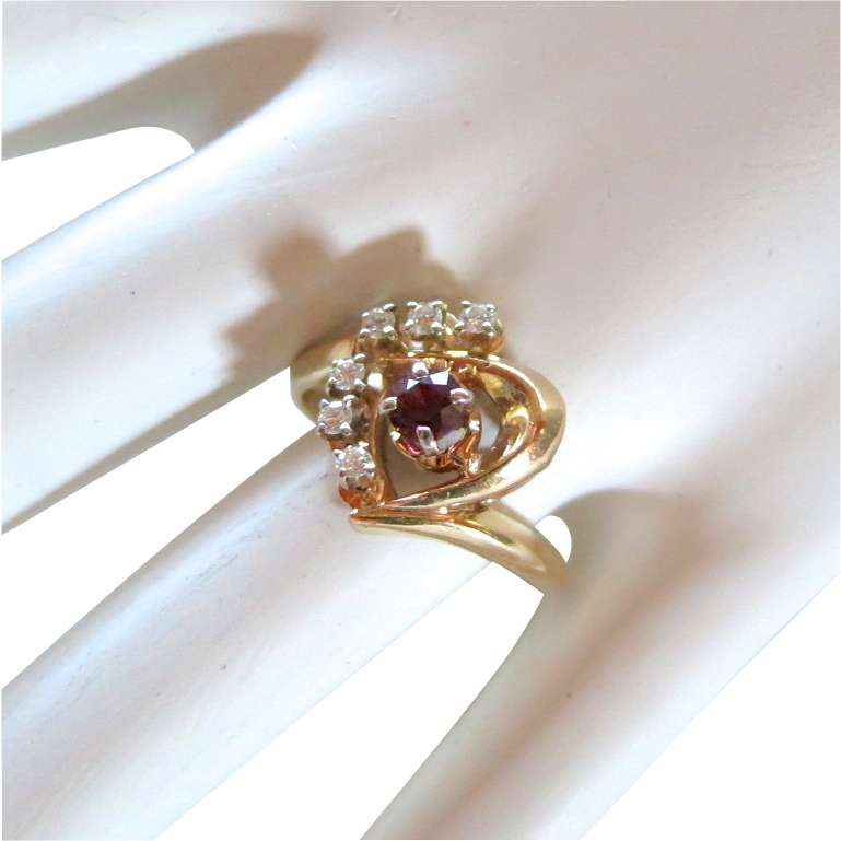 Custom 14k ruby & diamond ring