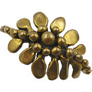 Vintage Stephen Burr Brass Modernist Cuff Bracelet 1978