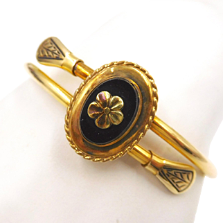 1930s Bates and Bacon 12K Gold Filled Crossover Claspet Bracelet
