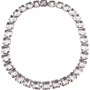 Vintage Art Deco Clear Crystal Necklace