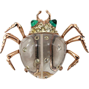 Vintage Coro Sterling Jelly Belly Insect Fur Clip Twinkling Twins