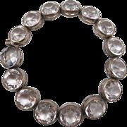 Vintage Art Deco Cut Crystals Bracelet