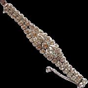 Fabulous Eisenberg Clear Rhinestone Bracelet in Original Box!