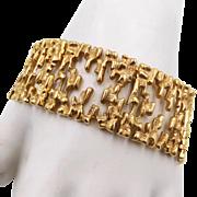 Vintage Gold Tone Brutalist Link Bracelet