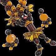 Bakelite Josephine Baker Necklace and Earrings
