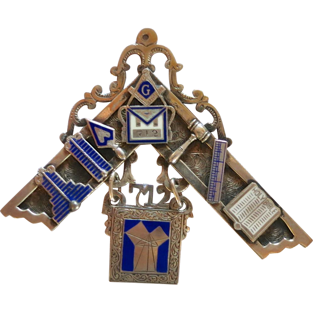 Masonic Past Master Medal Pilgrim Lodge 712 F. & A. M. Philadelphia 1945