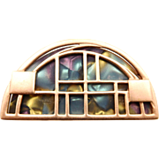 Vintage Monet Stained Glass Brooch