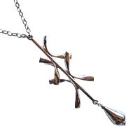 Napier Silver Tone Modern Pendant Necklace
