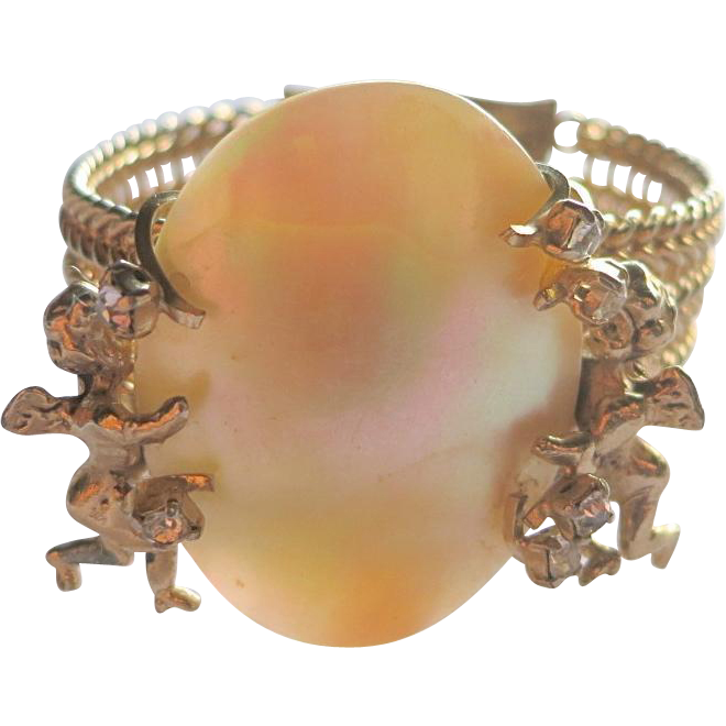 Pik NY Cherub Mother of Pearl Bracelet