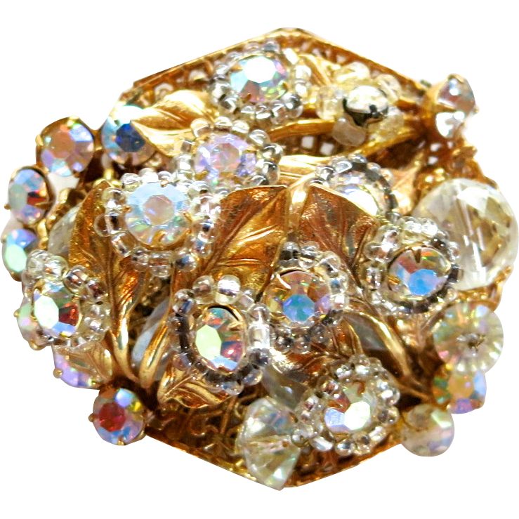Original by Robert Crystal and AB Rhinestone Brooch