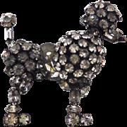Vintage Schreiner Style Rhinestone Poodle Dog Brooch