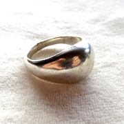 Mexican Sterling Silver Dome Ring