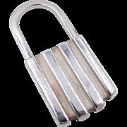 Tiffany Co. Sterling Silver Padlock Key Chain 1995