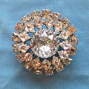 Warner rhinestone brooch