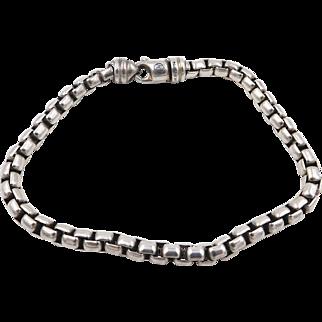 Yurman Sterling Silver 5mm Box Chain Bracelet 9 inches
