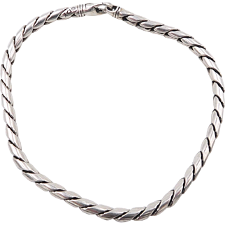 Yurman Sterling Silver Rounded 4mm Cobra Chain Bracelet 8.5 inches