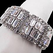 Vintage Clear Baguette Rhinestone Bracelet