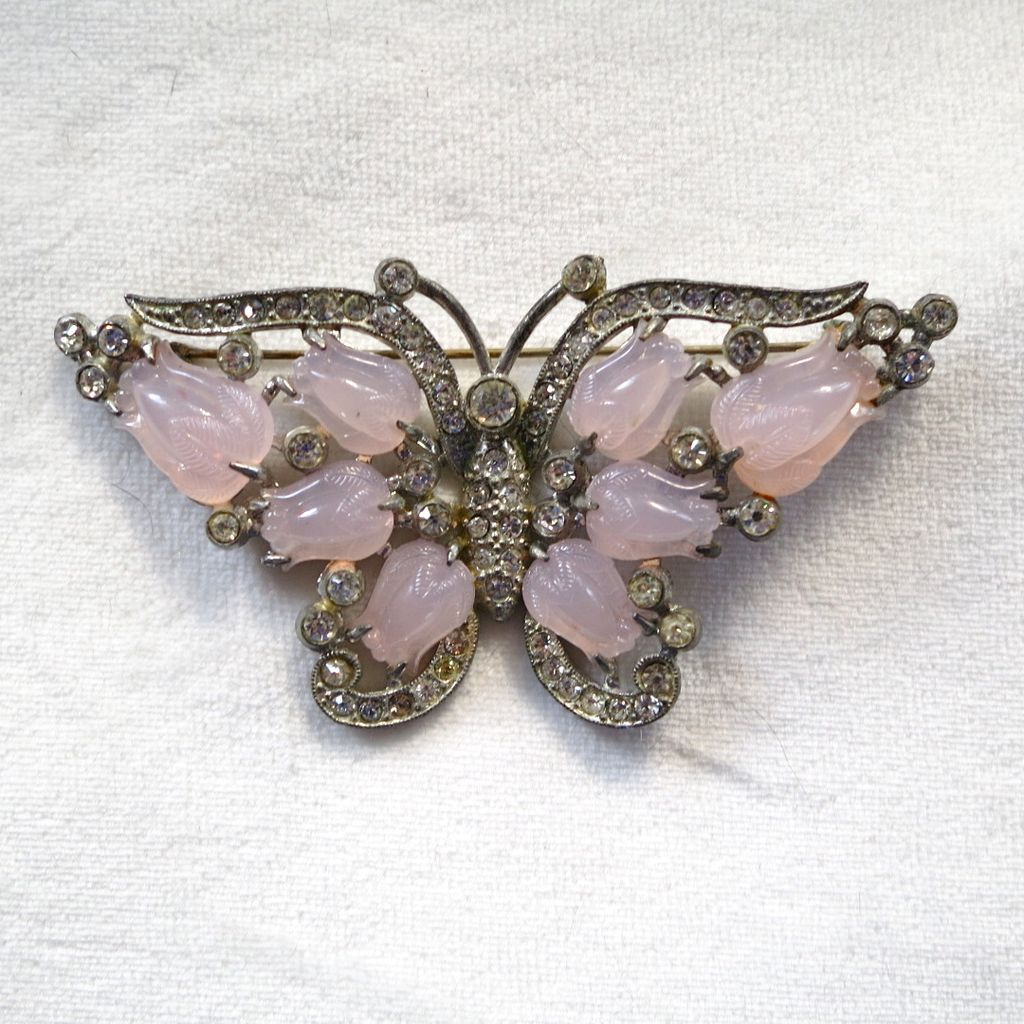 Rare Coro Fruits butterfly brooch