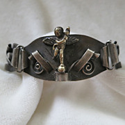 Unusual cupid angel bracelet made in Italy