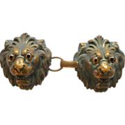 Victorian Lion Heads Cape or Cloak Clasp